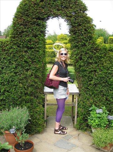 Tara enjoying the gardens.