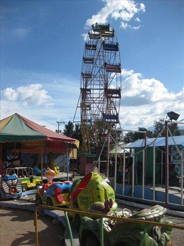 The fun-fair near the markets in Antigua.