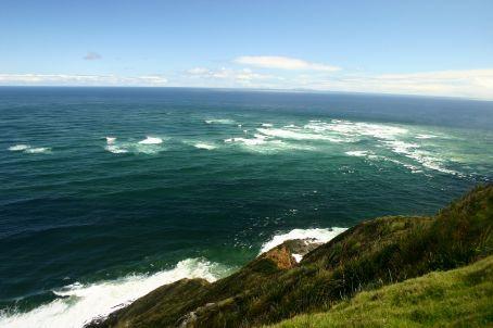 Where the Tasmin sea meets the Pacific Ocean