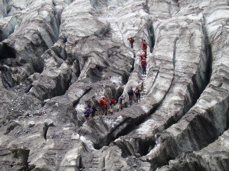 Hiking up onto the glacier, it is huge.