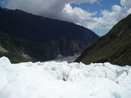The sounds carved out by the advancing retreating glacier. Its been advancing since 1983