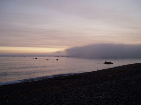 Its 5am the mist is cloaking the ocean coming around the headway. Slightly dubious as to what we were about to do and how things would go but it proved to be one of the most amazing experiences of my life.