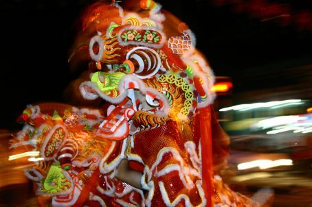 A week away the chinese new year celebrations are in full swing. Dancing Lions, jumping dragons and deafening clanging symbols and drums.