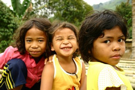 We visisted one of  the Orang-asli tribes and the kids loved to show off