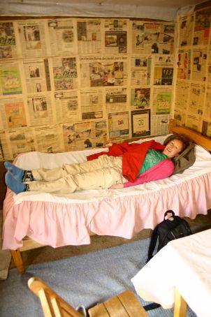Newspaper Wallpaper And Bubblewrap Carpet Luxury