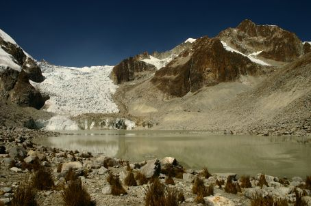The Laguna Glacial, finally made it, 5 hours, tears, lung ache and will power got me there.