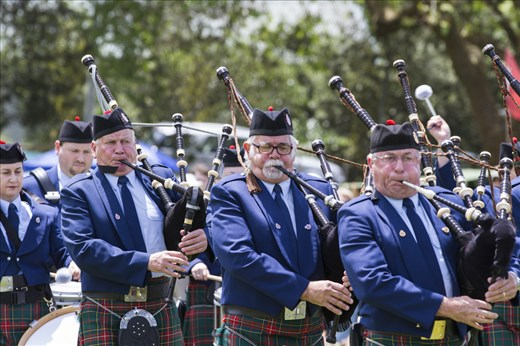 Mass Pipe and Drum bands compete in the marching competitions