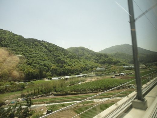 country side of the KTX
