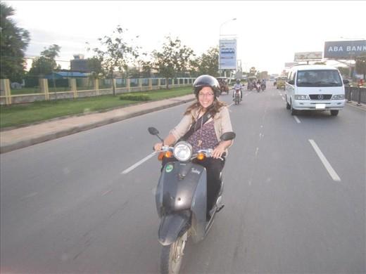me driving a moto
