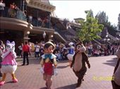 Pinocchio, Daisy and a chipmunk in the Disneyland parade: by mel, Views[772]