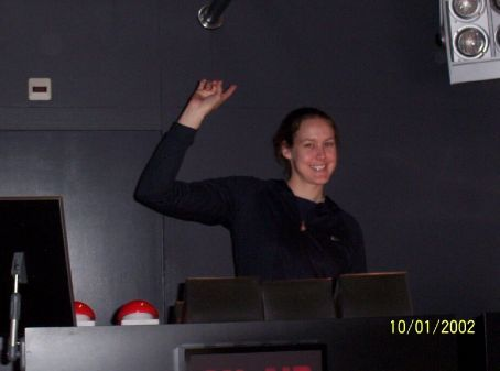 Jas making music at the Heineken factory