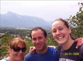 Me, Sam and Jas at a look out spot in Salzburg: by mel, Views[175]