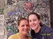 Jas and i outside Checkpoint Charlie museum and part of the Berlin Wall: by mel, Views[171]