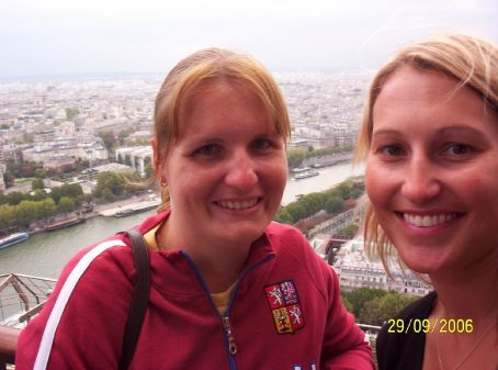 Me and a NZ girl named Marissa on the second floor of the Eiffel Tower