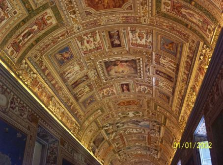 The ceiling at the Vatican Museum