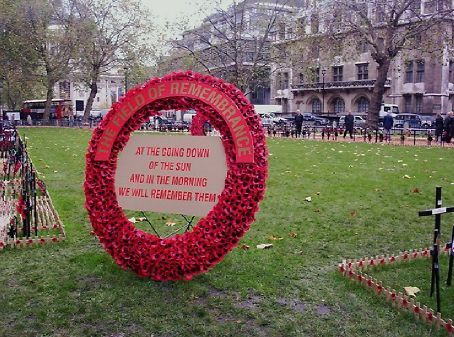 Red poppy day, a memorial at Westminister Abbey