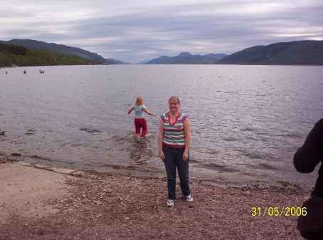 Loch Ness!! It was bloody freezing but a few mad people jumped in