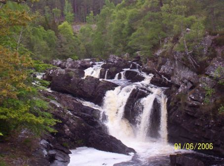 Falls in the Scottish highlands