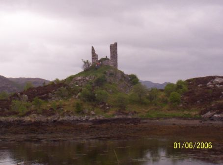 A castle in the middle of a loch