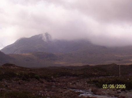 Eerie mountains of the highlands