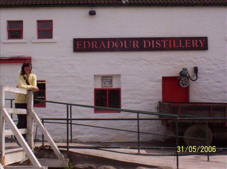 Alicia at Edradour Distillery