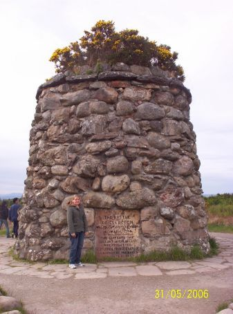 Memorial Cairn at the Culloden Battlefields