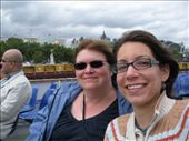 Melissa and I on the Thames River.  A little windy and overcast: by melissa, Views[199]