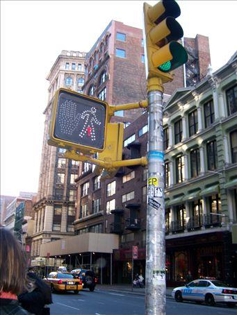A New York cross walk!