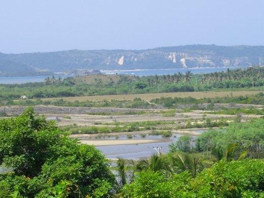 West of Kuta.