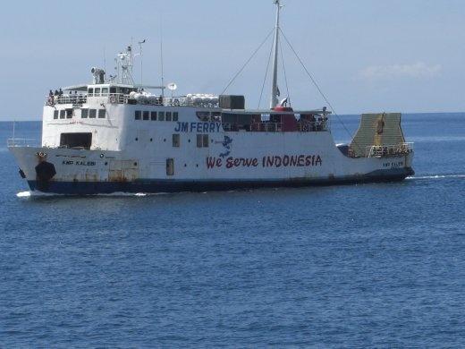Ferry heading to Padangbai from Lembar