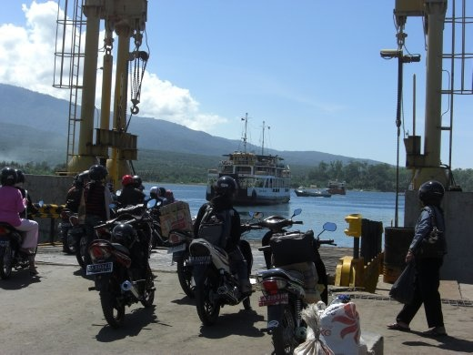 Bikies waiting for the ferry