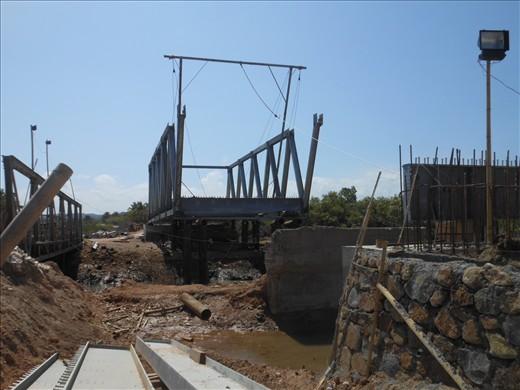 Bridge under construction near Awang