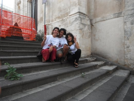 One of Melillis 13 churches together with Angela who picked us up loitering the streets to find a place to sleep and fixed an apartment :)