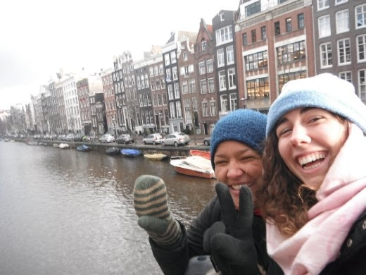 Amsterdam. There is a v-sign in my glow, but it was too cold to take my hand out :)