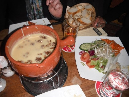 Cheese fondue with Patricia in Utrecht.