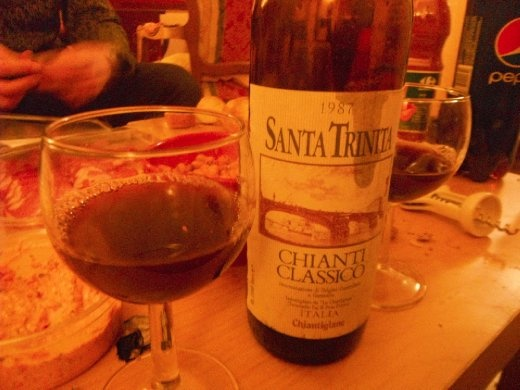 ... It was corked. Completely undrinkable - even after a day of oxidation :( Too bad, but it was a fun night any way.