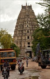 A reasonably empty passageway remains in a place where days earlier you would have to shuffle your way through a bustling bazaar in order to reach the Virupaksha temple.: by michael_james_martin, Views[126]