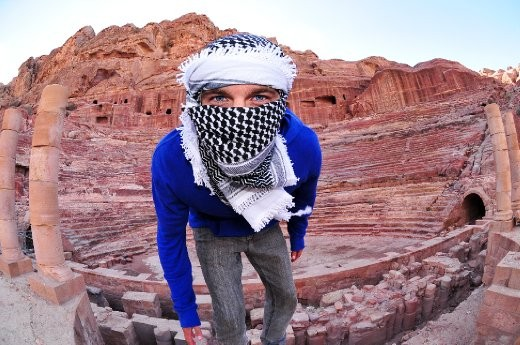 Exploring the ancient ruins in Petra, Jordan