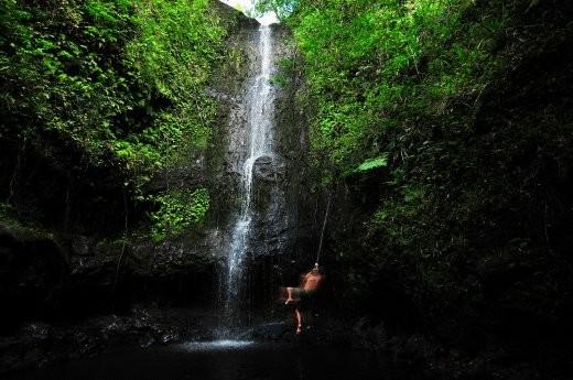 Crazy waterfall hike in Hawaii