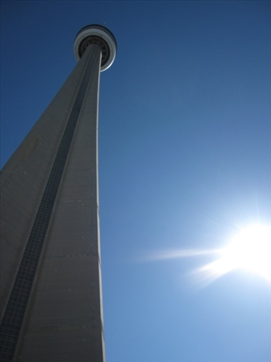 CN Tower on Sunday morning. Toronto.