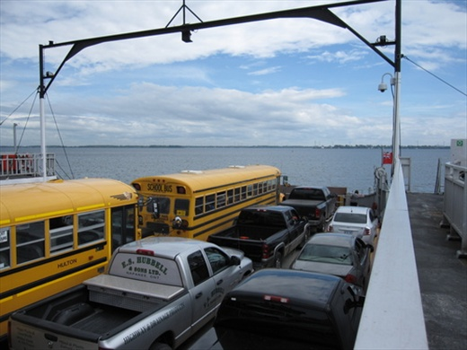 On the ferry from Kingston to Wolfe Island, ON