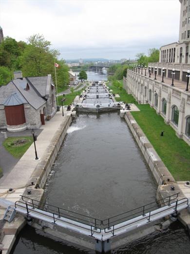 Rideau canal, the locks.
