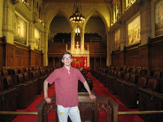Inside the parliament, Ottawa.