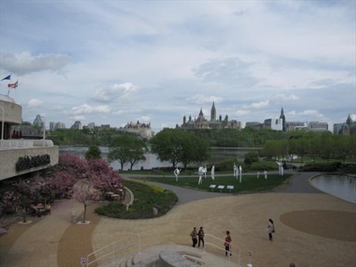 Ottawa Museum of Civilization.  Canada garden.