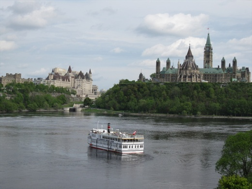 Landscape of the centre from the Museum of Civilization, Ottawa.