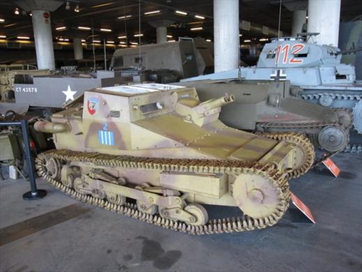 Canadian War Museum, Ottawa. Italian creepy tank.
