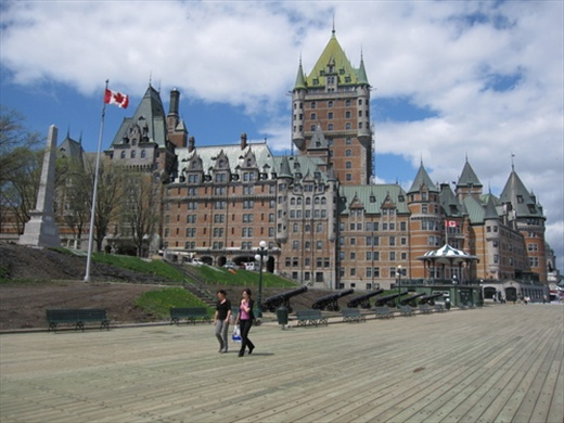 Chateau Frontenac, the most famous hotel in the city.