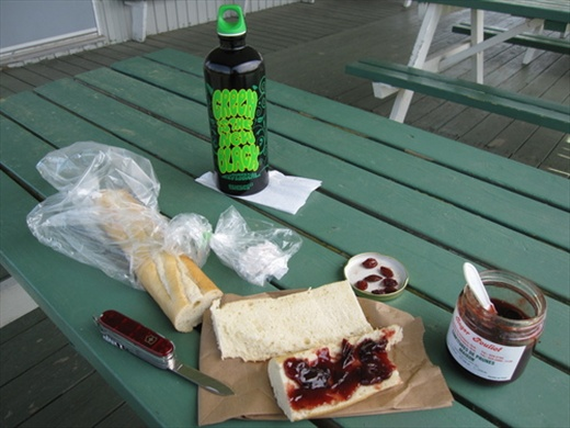 My lunch during the bike trip around the island. Ile d'Orleans, QC.