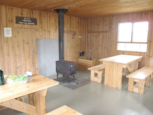 Lunch stop! Winter refuge, Abri de la Serpentine, 565m. Parc National de la Gaspesie, QC