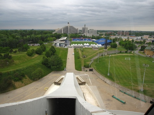 Parc Olympique, from the Tower of the stadium, Montreal